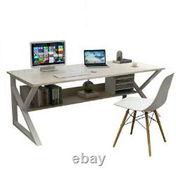 100CM Computer Desk PC Laptop Table withShelf Home Office Study Gaming Workstation