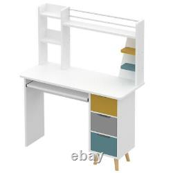 110CM Home Computer Desk Table WithShelves Laptop PC Study Home Office Workstation