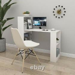 110cm Computer Desk Writing Study Table Office With Shelves Corner Study Home UK