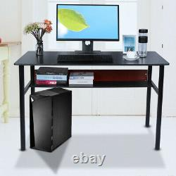 120 cm PC Computer Desk Gaming Study Table Office Home Workstation MDF & Metal