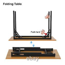 120cm Wood Folding Computer Desk Office Study Table Adjustable Legs No Assembly