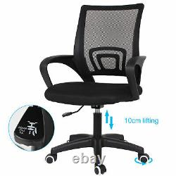 2-Tier Lightweight Folding Computer Desk Table and Office Chair Set Home Study