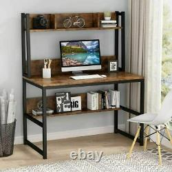 42 Corner Computer Writing Desk PC Gaming Table Home Office Workstation UK