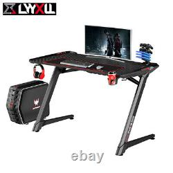 47 PC Gaming Desk Computer Table Home Office PC Table with RGB LED Lights UK
