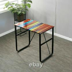 80cm Small Glass Desk Study Table Computer Desk PC Table Home Office Workstation