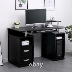 Apollo Black Computer Desk PC Laptop Table Home Office Study Workstation Gaming