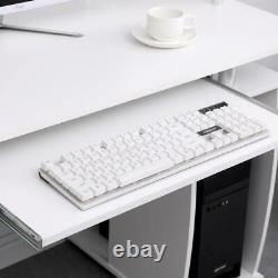 Apollo White Computer Desk PC Laptop Table Home Office Study Workstation Gaming