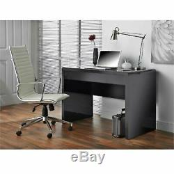 Black High Gloss Desk Large 1 Drawer Computer Laptop PC Table Study Workstation