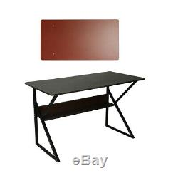 Black Walnut 100cm Home Office Desk Computer PC Writing Table Wooden Furniture