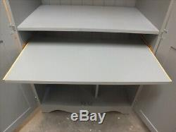 Chase Painted Hideaway Computer Desk Hand Made Solid Pine Sawn Top F&b Plummett