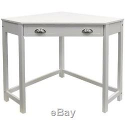 Chic Pine Grey Corner Desk Home Office Work Station Table NEW Computer Dressing