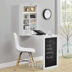 Compact Computer Workstation Table Small Spaces Blackboard Fast Folding Storage