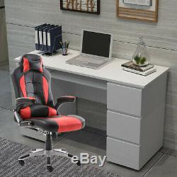 Computer Desk+Chair High Gloss With 6 Drawer Table Luxury Racing Office Chair UK