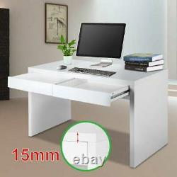 Computer Desk Home Office Working Study Writing Table with Book Shelf 2 Drawers