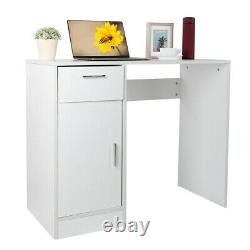 Computer Desk Laptop PC Table Home Office Study Workstation with Drawer & Door