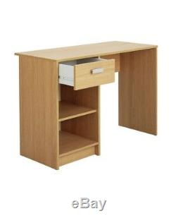 Computer Desk Office Workstation Laptop PC Table with Drawer Cabinet Oak