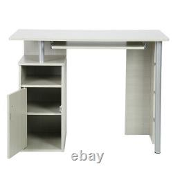 Computer Desk PC Table Home Office Study Furniture with Keyboard Tray & 1 Door