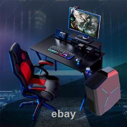 Computer Desk Study PC Table Gaming Desk Racing Writing Office with Cup Holder UK