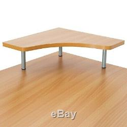 Computer Desk Table Office Workstation Study Writing PC Furniture Home Beech New