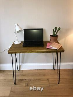 Computer Desk Table for Home Office Steel Hairpin Legs FAST & FREE DELIVERY