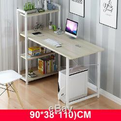 Computer Desk With Bookshelf Table Laptop Display Study Writing Home Office