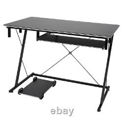 Computer Desk Wooden Laptop PC Gaming Table Workstation Study Office with Wheels