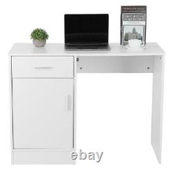 Computer Desk Writing Study PC Table Home Office with Drawer Storage Workstation