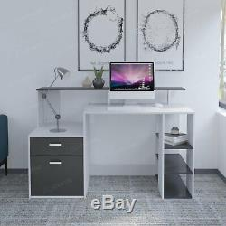 Computer Office Desk PC Laptop Table Study Home Furniture with Shelves Drawer