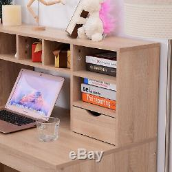 Computer Writing Desk Storage Organiser Laptop PC Table Home Office Workstation