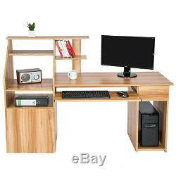 Computer desk table office workstation student study writing PC furniture drawer