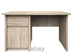 Computer table desk with drawer and soft close, oak sonoma colour, high quality