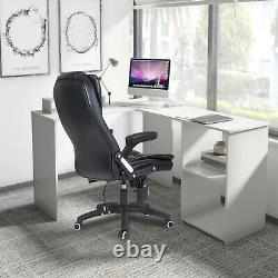Corner Computer PC Desk L-shaped Table Workstation Home Office Study Table White