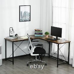 Corner L-Shape Computer Desk PC Workstation Writing Gaming Table Home Office