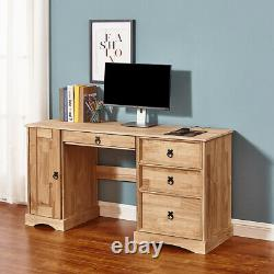 Corona Computer Table Dressing Table Study Desk Chest of 3 4 Drawer Mexican Pine