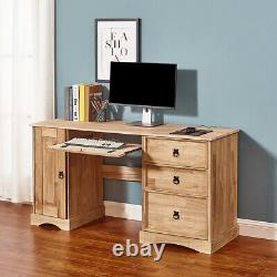 Corona Corner Computer Desk Home Office Table Mexican Solid Pine Workstation