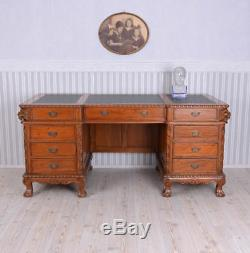 Desk Mahogany Colonial Style Executive Office Desk Computer Table New