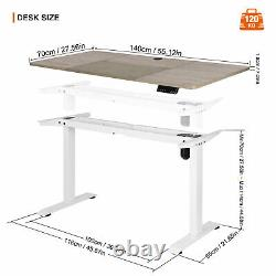 Electric Stand Computer Desk Lift Writing Table Workstation with LED Display