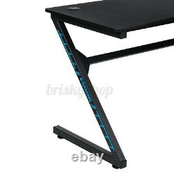 Ergonomic Gaming Desk PC Computer Table with Cup Holder Headphone Hook Home Office