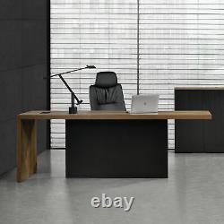 Executive Desk Computer Table 220cm Manager Boss Office Massive Wood