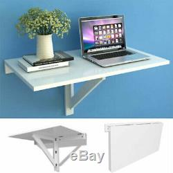 Floating Wall Mounted Desk Kitchen Dining Table PC Computer Study Foldable White
