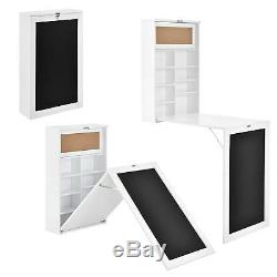 Foldable Computer Desk Space Saving Storage Fold Away Home Dinning Office Table