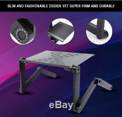 Folding Notebook Desk Adjustable Laptop Table Stand Lap Sofa Bed Tray Computer