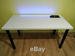 Gaming Desk Computer PC Table with RGB LED