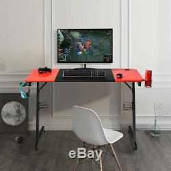 Gaming Desk Computer Racing Table Workstation Headphone Holder Study Home Office