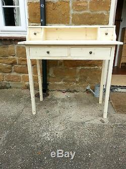 H80 W100 D45cm BESPOKE UNTREATED CONSOLE COMPUTER DESK HALL TABLE DRAWER CHUNKY