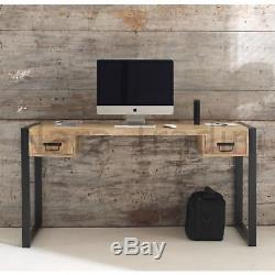 Harbour Indian Reclaimed Wood Furniture Computer Office Laptop Table Desk