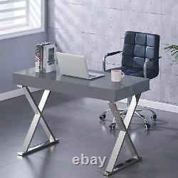 High Gloss 1 Drawer Computer PC Study Home Office Desk Makeup Dressing Table