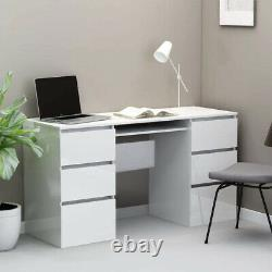 High Gloss Drawers Computer Desk PC Study Home Office Makeup Dressing Table Game