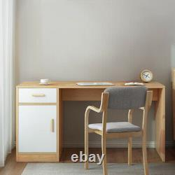 High Quality Computer Desk WithDrawer&Door Study PC Table Home Office Workstation