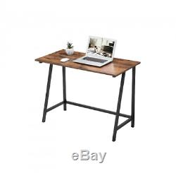 Industrial Computer Desk Home Office Study Corner Workstation PC Table L-Shaped